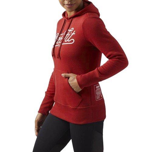 Bluza Reebok CrossFit Script Hoody damska dresowa sportowa z kapturem