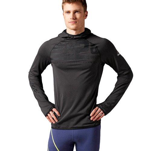Bluza Reebok One Series DWR Thermal męska sportowa do biegania z kapturem