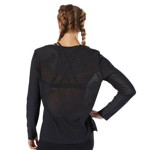 Koszulka z długim rękawem Reebok CrossFit Jacquard damska sportowa bluzka termoaktywna