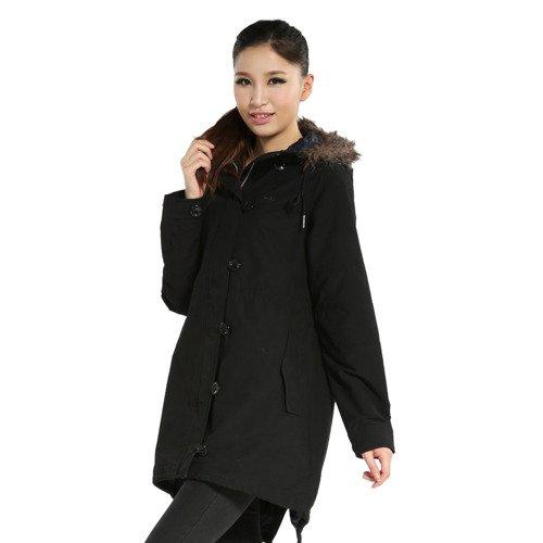 Kurtka Adidas Originals Fur Woven damska płaszcz parka przejściowa