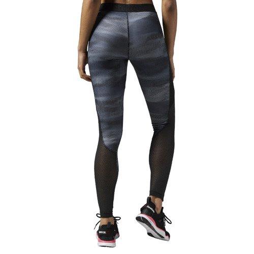 Legginsy Reebok Workout All Camo damskie spodnie getry termoaktywne