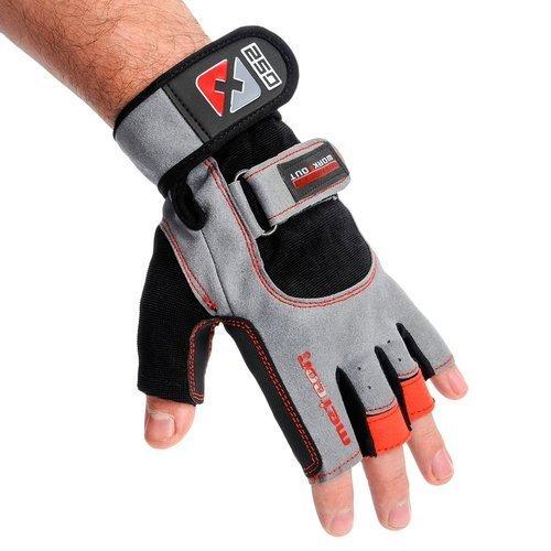 Rękawice kulturystyczne Meteor Grip Wrist 250 rękawiczki treningowe