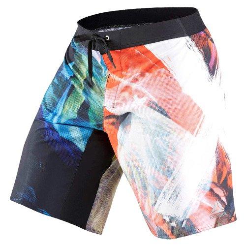 Spodenki Reebok CrossFit Acid Sublimated męskie sportowe termoaktywne