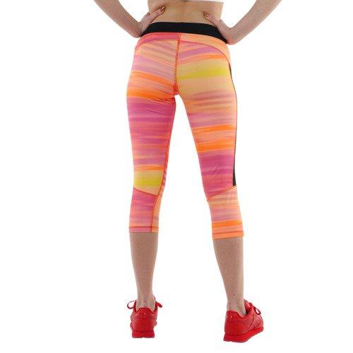 Spodnie 3/4 Reebok Gymana Capri damskie legginsy getry sportowe termoaktywne