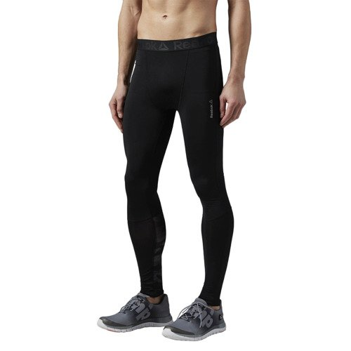 Spodnie Reebok LTHS Tight męskie getry kompresyjne termoaktywne