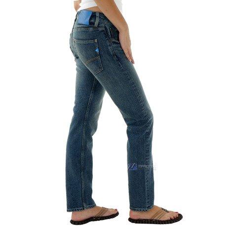 Spodnie jeansowe Adidas Originals Winetta Fit damskie boyfriend bawełniane