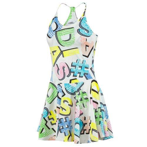 Sukienka Adidas Originals Jeremy Scott Graphic Dress rozkloszowana