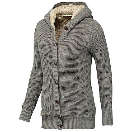Sweter Adidas Neo Knit Sherpa damski kardigan z futerkiem rozpinany